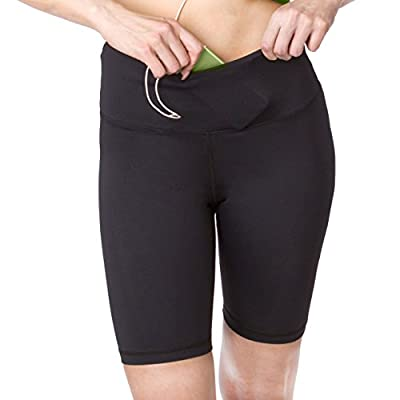 Sport-it Active Long Shorts, Women's Workout Bike Running Shorts with Pockets and Tummy Control