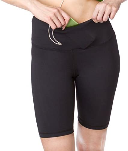 b1151e9630 Sport-it Active Long Shorts, Women's Workout Bike Running Shorts with  Pockets and Tummy Control, Athletic Training Half Pants