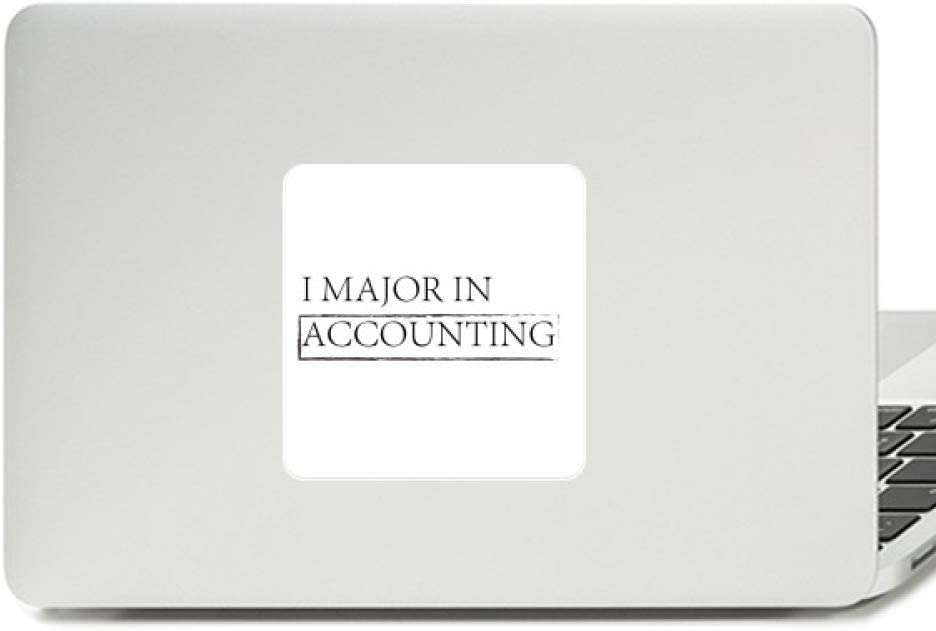 Quote I Major in Accounting Decal Vinyl Paster Laptop Sticker PC Decoration