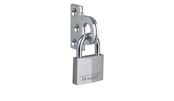 Master Lock 914060EURD Flat Padlock Eyelets with 9140EURD Padlock
