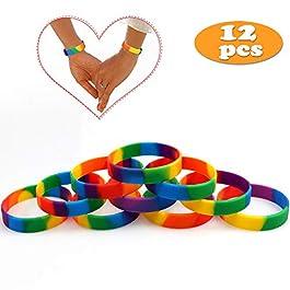 Bracelets Arc-en-Ciel Gay Pride 6 Couleurs LGBT Party Bracelets en Caoutchouc