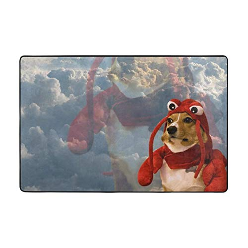 Dog In Lobster Costume Area Rug Rugs Non-Slip
