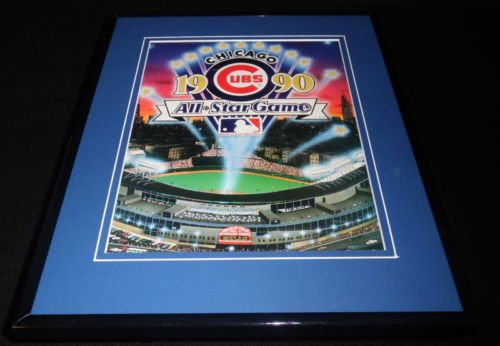 1990 MLB All Star Game Framed ORIGINAL Program Cover Chicago Julio Franco MVP 1990 Mlb All Star Game
