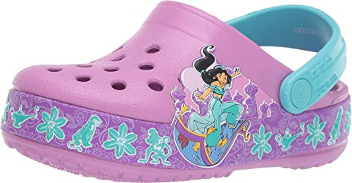 (Crocs Boys and Girls Jasmine Band Clog, Violet, 9 M US Toddler)