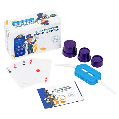 Learn & Climb Magic Tricks Kids 7,8,9,10- Set of 3 Unique Props Kit Includes Rope Cutter, Magical Cards, Paper to Coin Trick & Easy Instructions