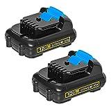LiBatter 2Packs 12V Max 3Ah Lithium Battery Compatible for All DeWalt 12V tools DCB120 DCB123 DCB127