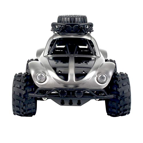 TANGON New Full Scale Pickup RC Car 2.4Ghz Off-Road Truck 1:18 cale 2 WD All Terrain Off-Road Vehicle Buggy Hobby Electronic RTR RC Car Toy,KYAMRC Remote Control Car for Kids (Silver)