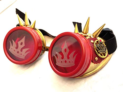 Steampunk Goggles Red Queen Evil Villain Cosplay Costume]()