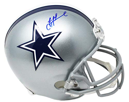 Troy Aikman Signed Helmet - Troy Aikman Signed Dallas Cowboys Riddell Full Size Replica Helmet