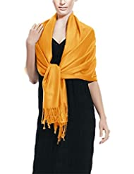 Peach Couture 71x198cm Solid Soft & Silky Eco-Friendly Pashmina Shawl 20+ Colors