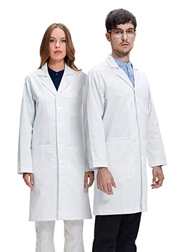 Dr. James Professionally Designed Unisex Lab Coat - 39 Inch Length - Coat Womens Lab Long