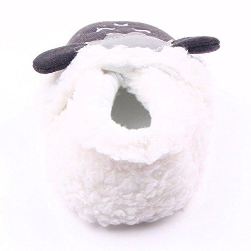 Highdas Baby-Kleinkind-Schaf-Schuhe - Anti-Rutsch / Anti-out / Soft Bottom Weiß