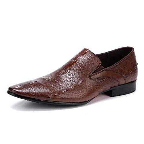 Crocodile Taille Pour Mariage En Porter Motif Une Pointu Bottes Casual Brown Eu Brown Cuir Pédale Hommes 43 Chaussures Ktyxgkl couleur FzYnRXqax