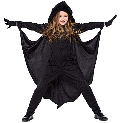 ABDQPC Kids Black Bat Funny Party Birthday Cosplay Costume Fancy Dress Up M ()