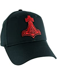 Red Thor's Hammer Norse Viking Symbol Hat Baseball Cap Alternative Clothing