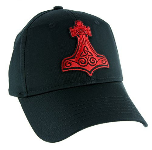 Red Thor's Hammer Norse Viking Symbol Hat Baseball Cap Alternative Clothing