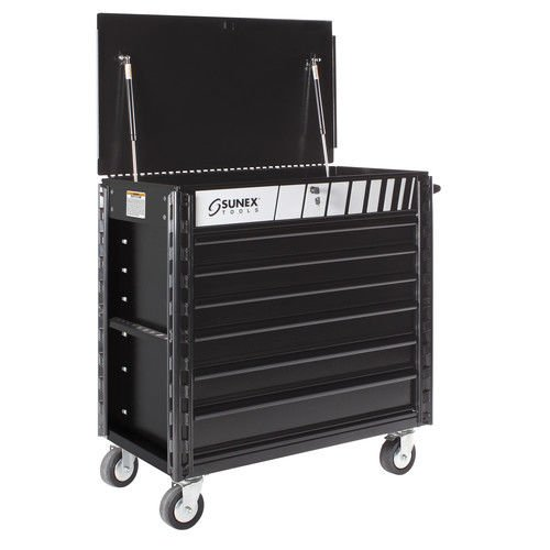 Sunex 8057XT Full Drawer Professional Service Cart with Textured Finish