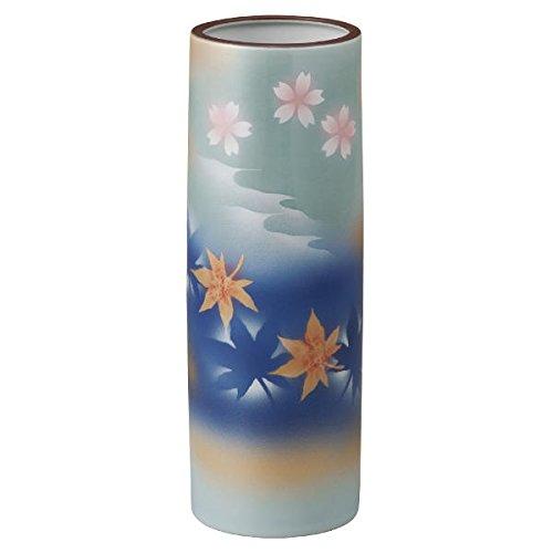 K4-1299 九谷焼 8号花瓶 春秋 B06XXW1T34