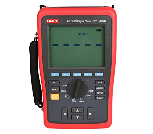 - UNI-T UT620B High Precision Digital Micro Ohm Meter Low Resistance Tester 60.000mΩ-6.0000kΩ Four-wire Measurement USB Software