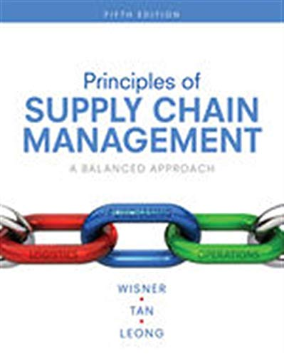 [BOOK] Principles of Supply Chain Management: A Balanced Approach<br />EPUB