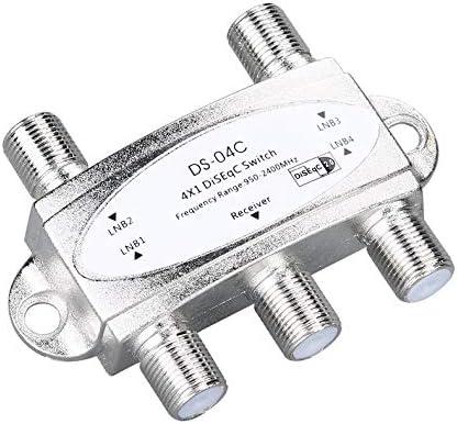 ghfcffdghrdshdfh 4 x 1 DiSEqc Interruptor de Banda Ancha conectar 4 Platos 4 LNB para Receptor de sat/élite