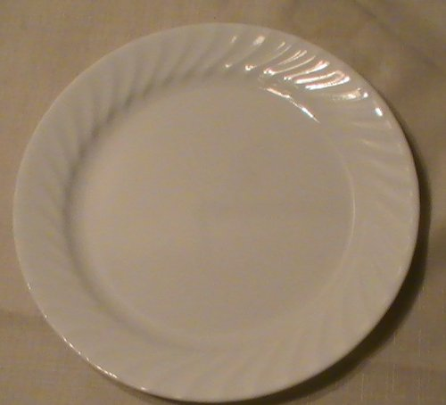 Corning Corelle Enhancement (White Swirl) Dinner Plates - Set of 4 ()