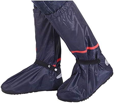 シューズカバー 防水靴オックスフォード靴の男性のレインブーツ厚い底部の摩耗の自転車シューズカバースリップ 通勤 通学 自転車用 (Color : Black, Size : XXL)