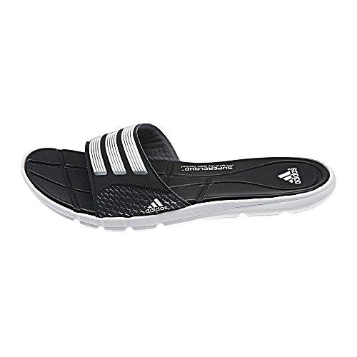 adidas Damen Badelatschen adipure 360 Slide core black/white/iron met. 42