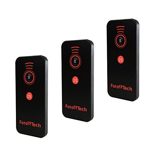 Foto&Tech 3 PCS IR Wireless Remote Control for Sony Alpha Cameras A9, A7R II, A7 II, A7 A7R A7S A6500 A6300 A6000 A55 A65 A77 A99 A900 A700 A580 A560 A550 A500 A450 A390 A380/NEX-7 NEX-6 NEX-5T NEX-5R