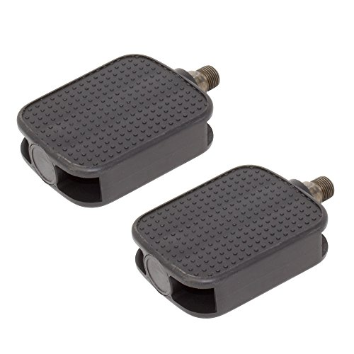 "Fenix Bicycle Square Platform Pedals Black. Lowrider Beach Cruiser, Chopper, Exercise Bike, Various Sizes (1/2"" Axle)"