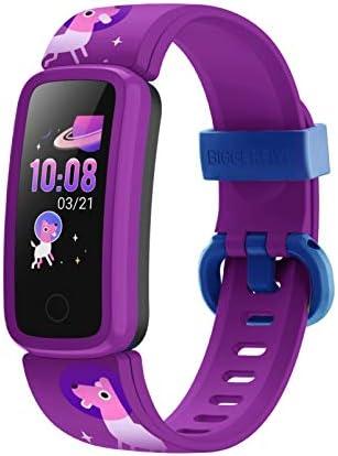 BIGGERFIVE Fitness Tracker Watch for Kids Girls Boys Teens, Activity Tracker, Pedometer, Heart Rate Sleep Monitor, Vibrating Alarm Clock, IP68 Waterproof Calorie Step Counter Watch 1
