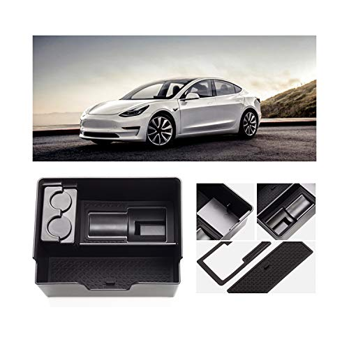 YEE PIN Tesla Model 3 Armrest Box Storage Box, Convenient Access Farewell Messy Grid Planning, Original Car Development Layout is Reasonable, Small Innovative Large Use