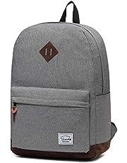 Vaschy Unisex Classic Water Resistant School Rucksack Travel Backpack 14Inch Laptop Charcoal Grey