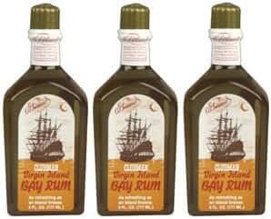 Three (3) Clubman Virgin Island Bay Rum * Each 6 Fl. Oz.