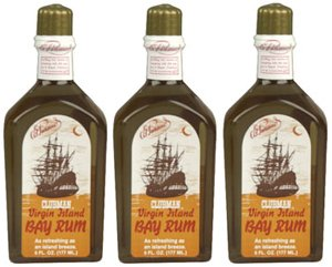 Three (3) Clubman Virgin Island Bay Rum * Each 6 Fl. Oz.