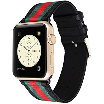 4c6aeb71acd MORTREE Nylon and Leather Band for Apple Watch Series 3 Series 4  Bands