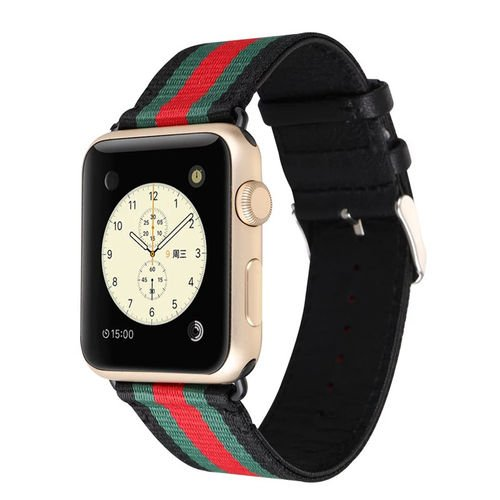 81a6b68140a Amazon.com  MORTREE Nylon and Leather Band for Apple Watch Series 3 Series  4 Bands