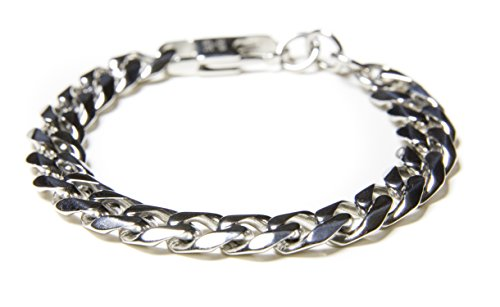 Chain Dipped Silver Steel Bracelet product image