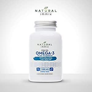 Natural immix – Fish Oil Omega-3 Plus Vitamin D, Cardiovascular Health, Cognitive Health…