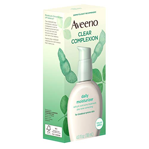 Aveeno Clear Complexion Salicylic Acid Acne-Fighting Daily Face Moisturizer for Breakout-Prone Skin & Uneven Tone, Total… 4