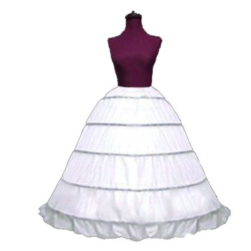 SACAS Adjustable 5 Bone Hoop Skirt Bridal Renaissance Civil War Skirt Slip -