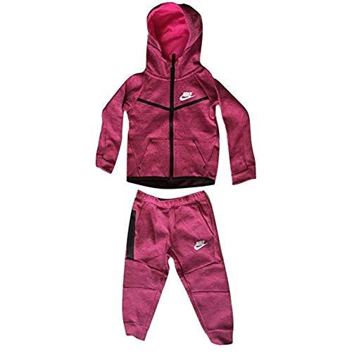 NIKE Girls TECH Fleece Two-Piece Infant/Toddler Set Vivid Pink 76B400-A3D (2T)