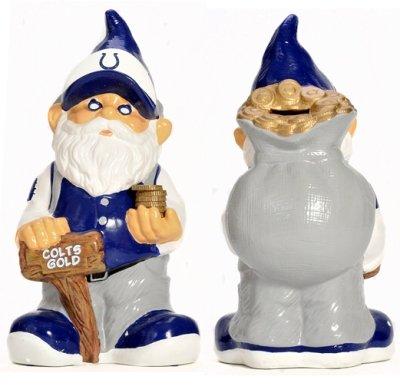 (Indianapolis Colts Garden Gnome Coin Bank)