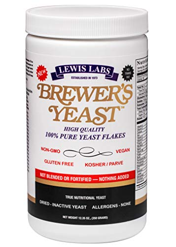 Lewis Labs Brewer's Yeast Flakes Powder, 12.35 Ounce (Packaging...