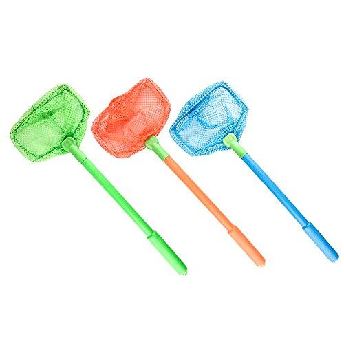 Miraclekoo Crab Net Fish Net Floating Bait Net Beach Toys for Kids (blue,orange,green)