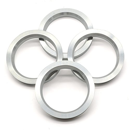 GoldenSunny 73.1mm OD to 57.1mm ID Hub Centric Rings, Silver Aluminum Hubcentric Rings for 57.1 Vehicle Hubs with 73.1 Wheel Center Bore, Pack of 4