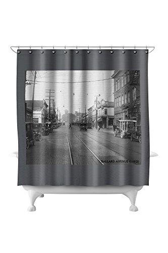 Ballard Avenue in Seattle, WA Photograph (71x74 Polyester Shower Curtain) ()