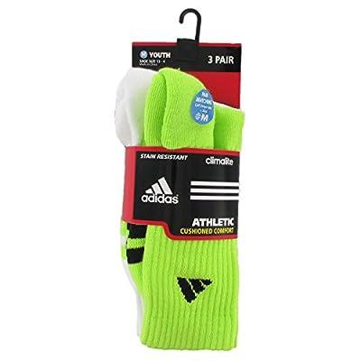 adidas Boys Cushion Crew Socks (3-Pack)