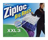 Ziploc Jumbo Big Bags 3 ea (Pack of 8)