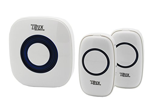 Liztek Portable Wireless Doorbell with 1 Plug In Receiver and 2 Remotes